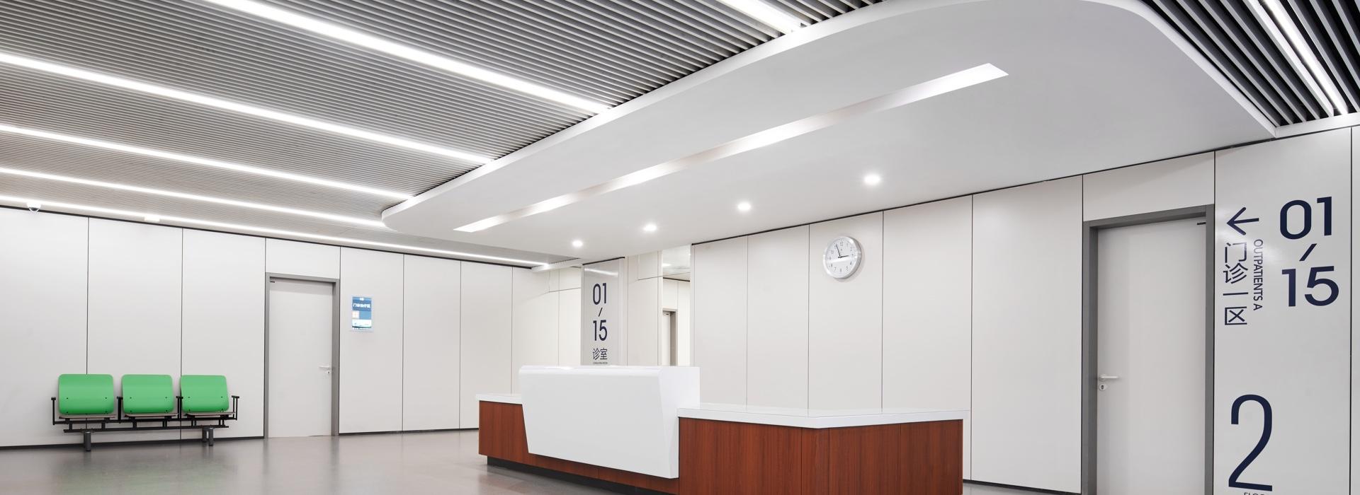 圣奥医疗办公家具 导医台及等待区