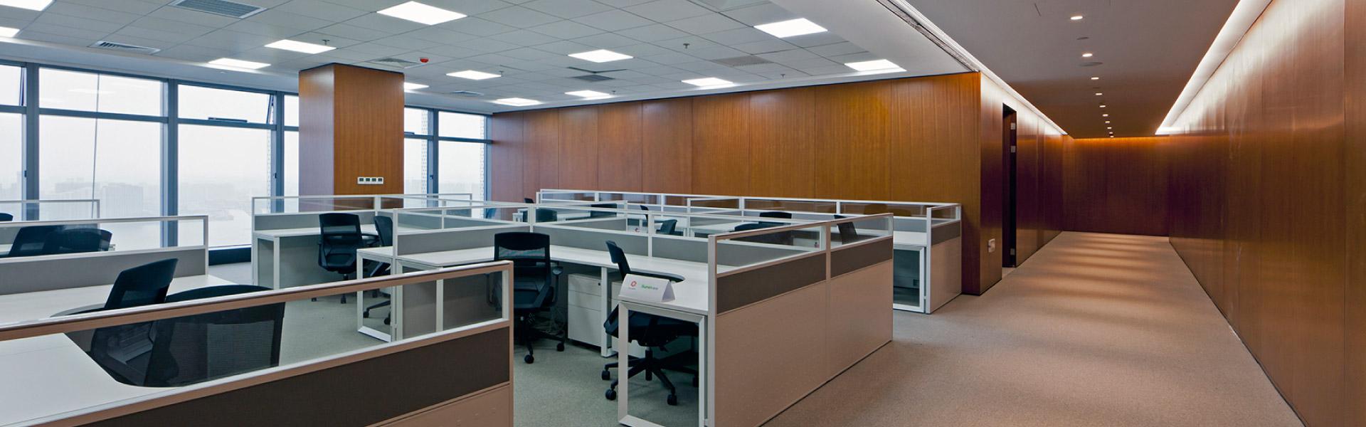 传化集团有序的职员空间 圣奥办公家具设计
