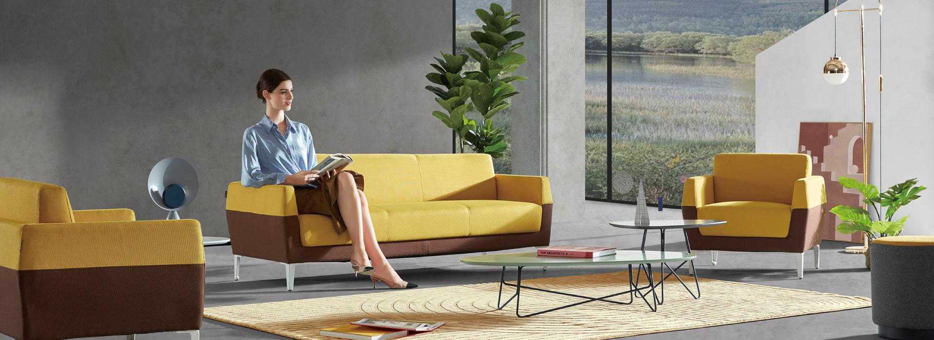 圣奥办公家具 简系列沙发 场景图