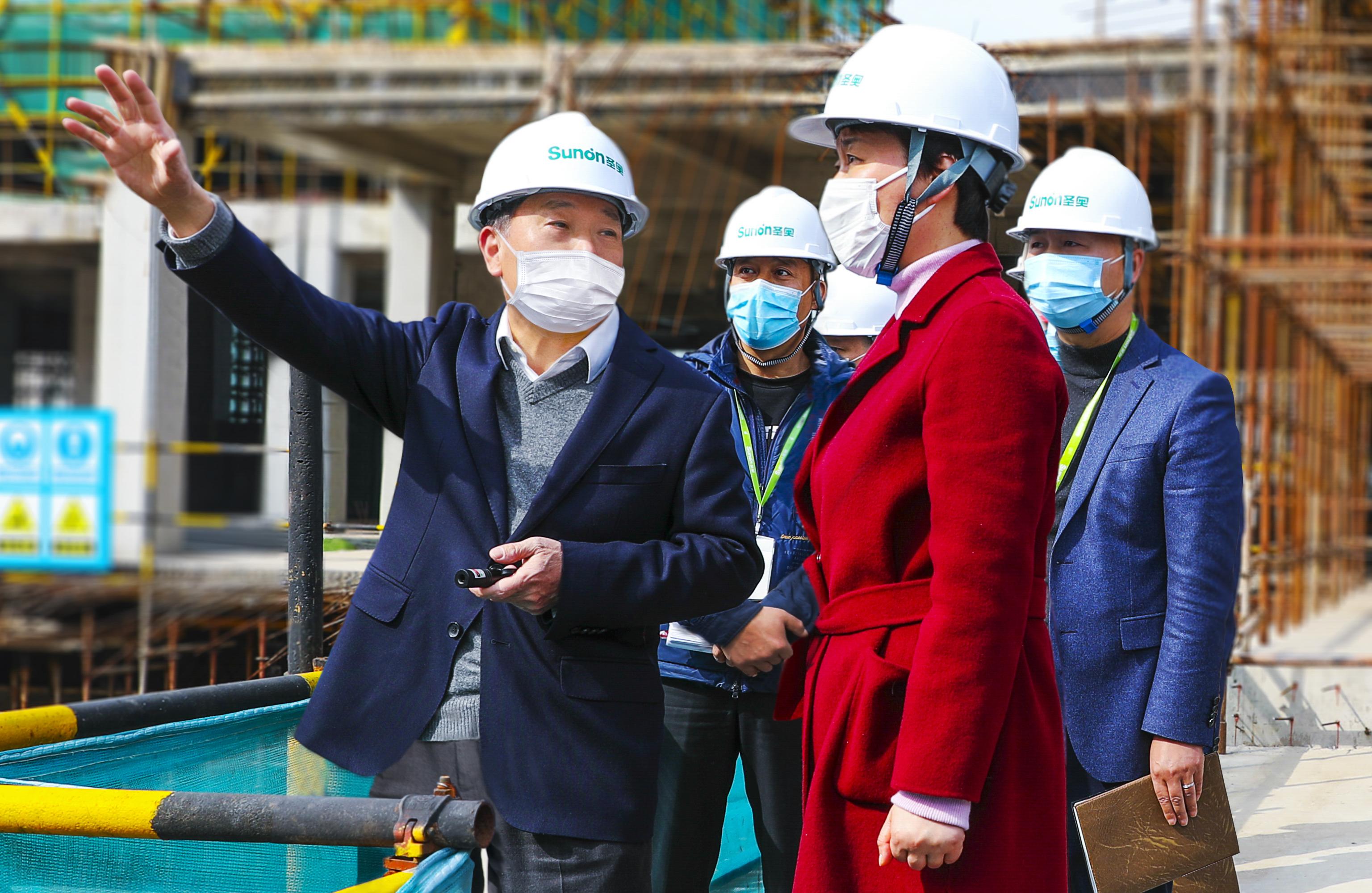 杭州市委常委、萧山区委书记佟桂莉一行到圣奥办公家具国际生产基地项目调研