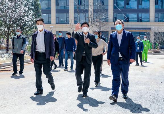 杭州市经济和信息化局夏积亮局长一行调研圣奥钱塘新区智造基地