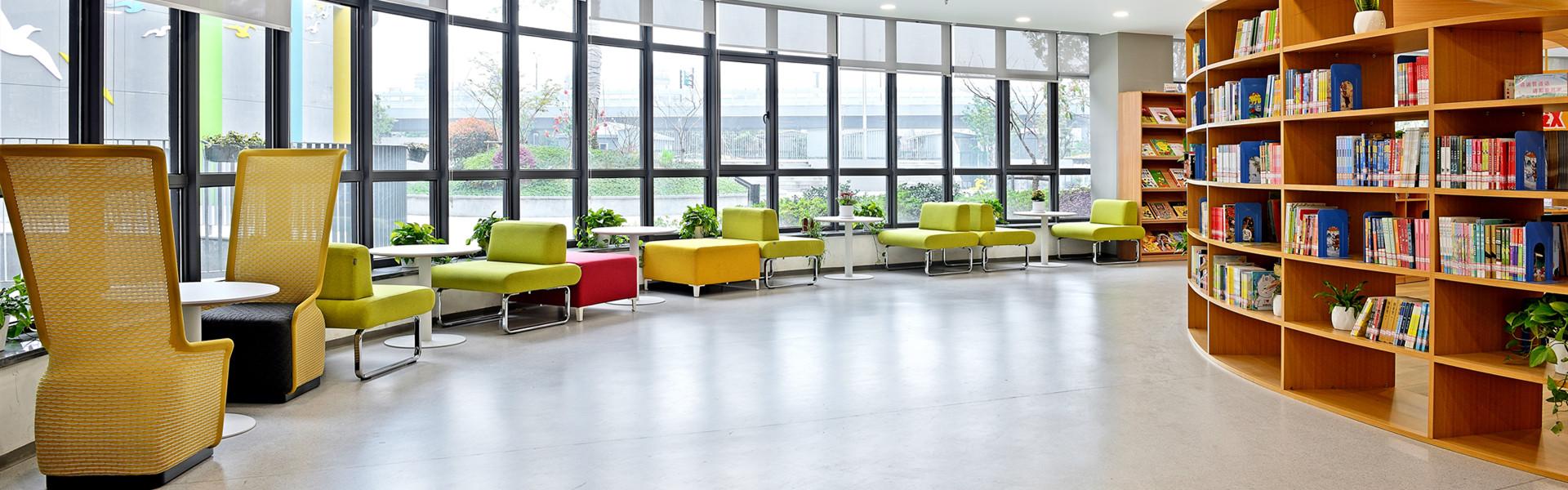 杭州胜利小学阅览空间 圣奥办公家具设计
