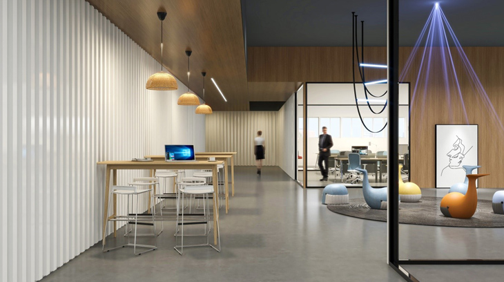 圣奥办公家具 休闲办公空间解决方案 鲸鱼沙发+大可座椅