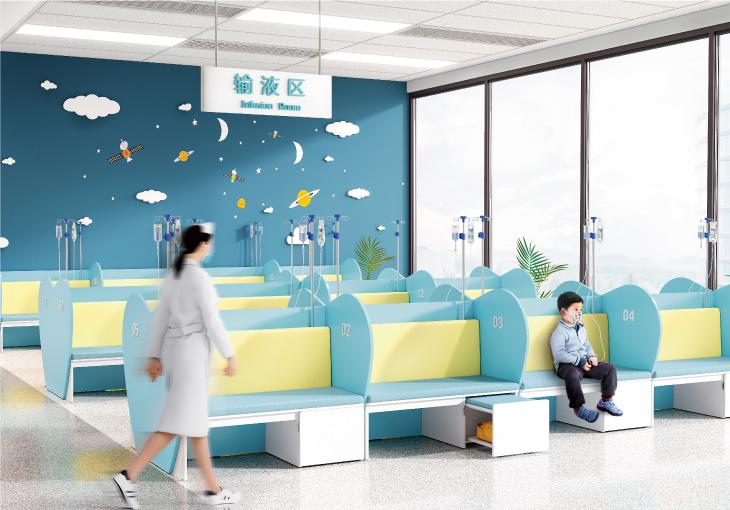 圣奥办公家具 安护系列儿童输液区医院家具