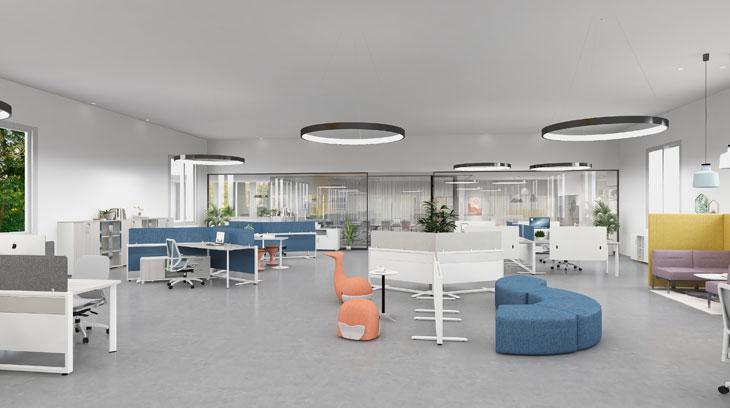 圣奥办公家具 智能办公空间场景图