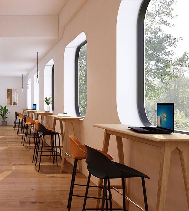 办公空间过道设计案例-圣奥办公家具官网