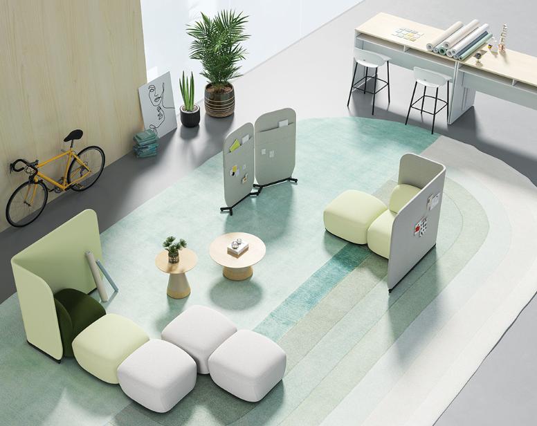圣奥办公家具 千岛系列共享岛降噪音沙发场景图