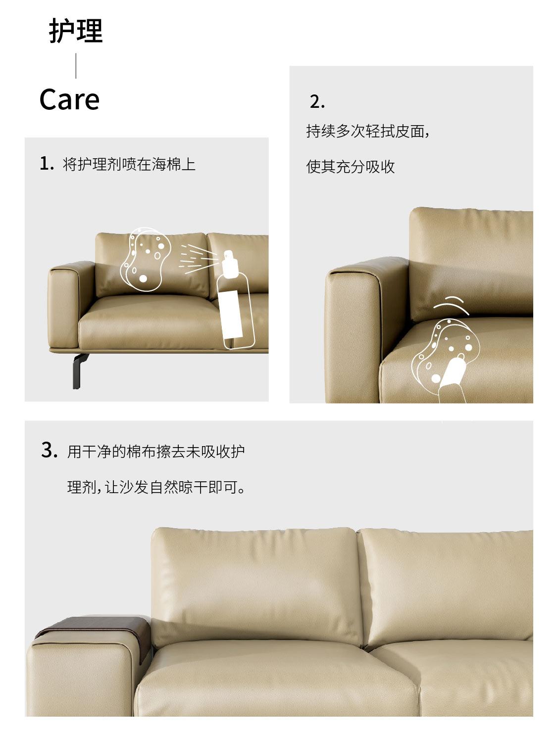 沙发护理流程图