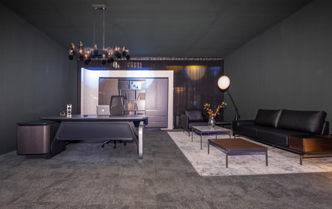 圣奥办公家具2021年新品 昂蒂那智能感应办公桌