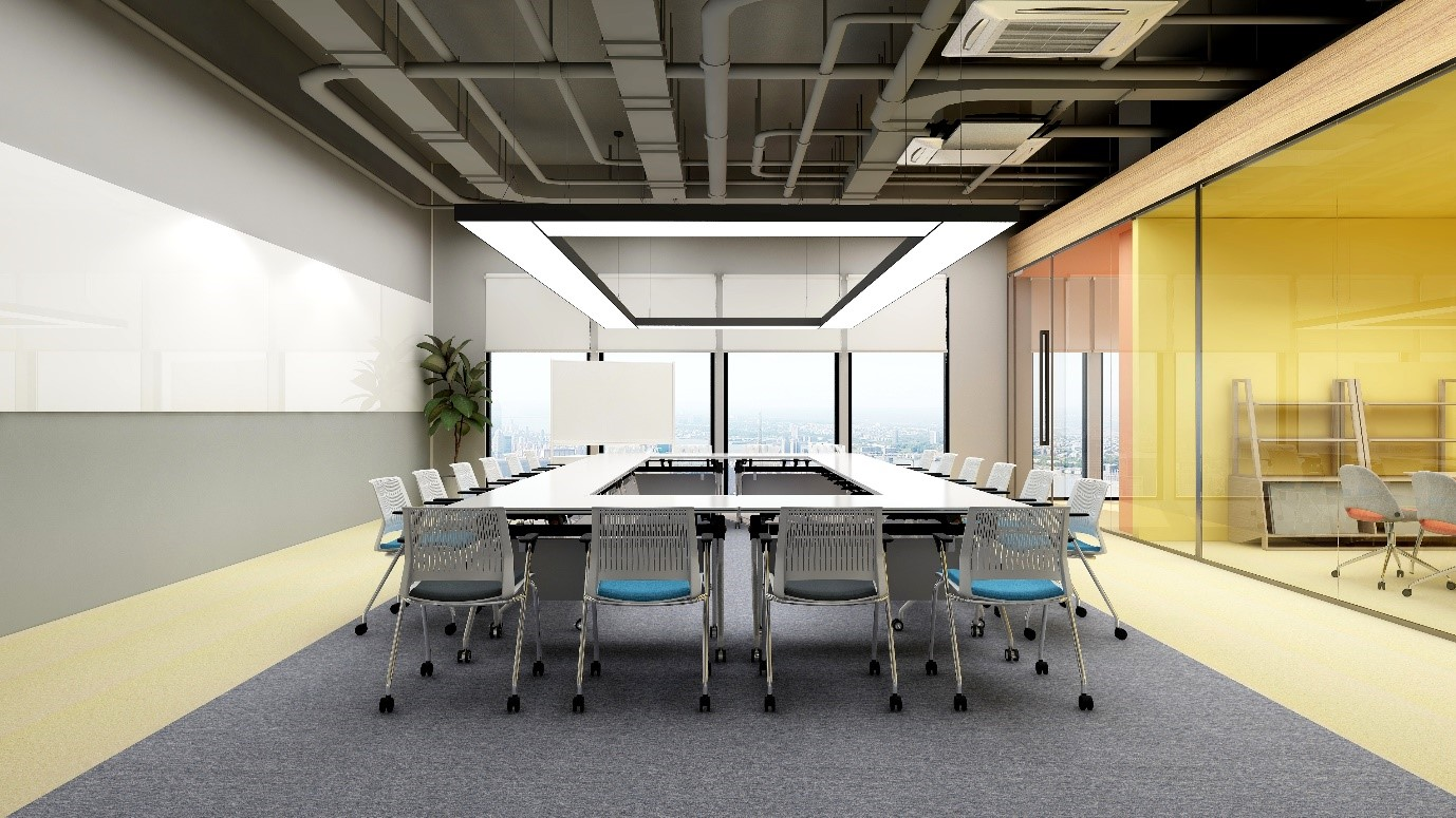 圣奥办公家具 会议桌组成的学习空间 场景图
