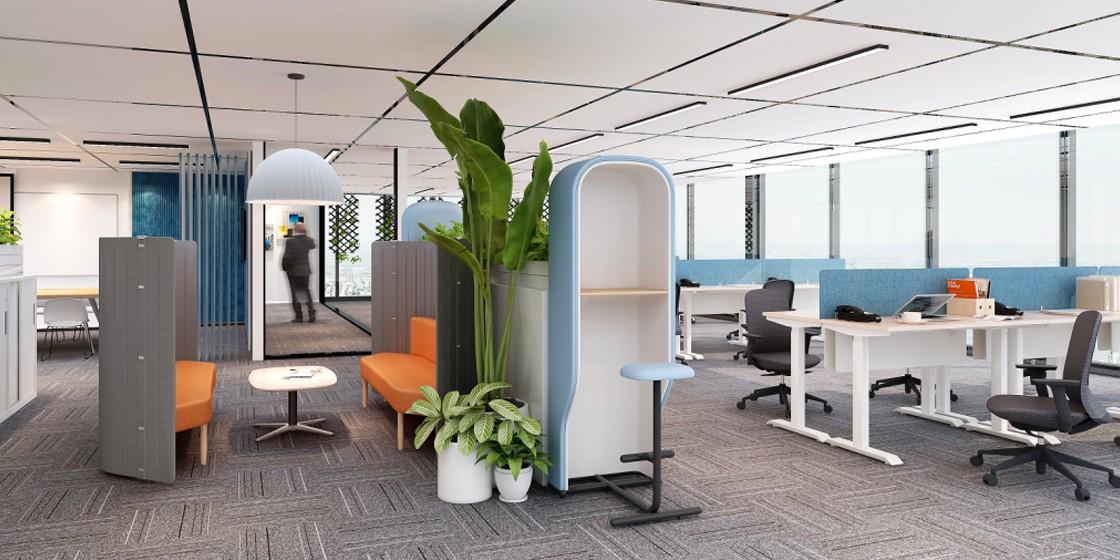 圣奥办公家具 办公室半私密空间解决方案