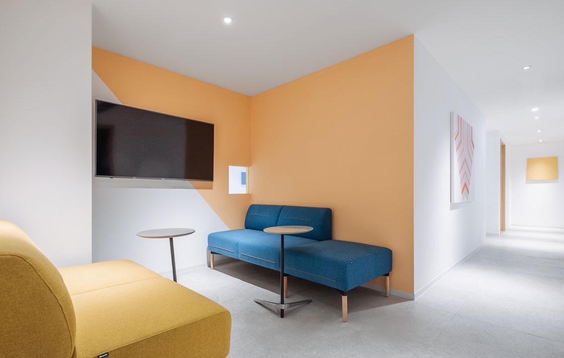 圣奥办公家具 花立系列模块化组合沙发