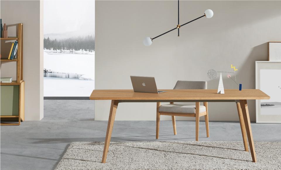 圣奥办公家具 简森实木办公桌