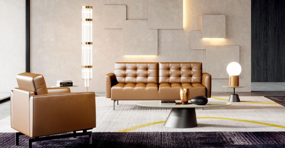 圣奥办公家具 辰系列办公沙发场景图
