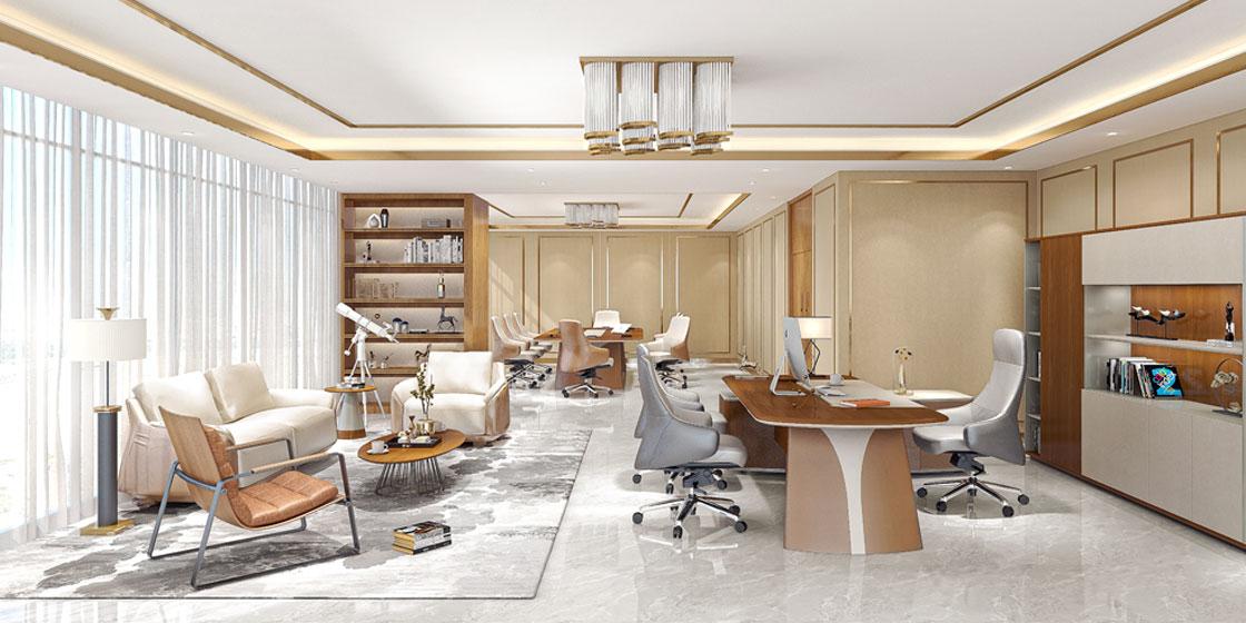 圣奥办公家具 天元主管实木办公桌