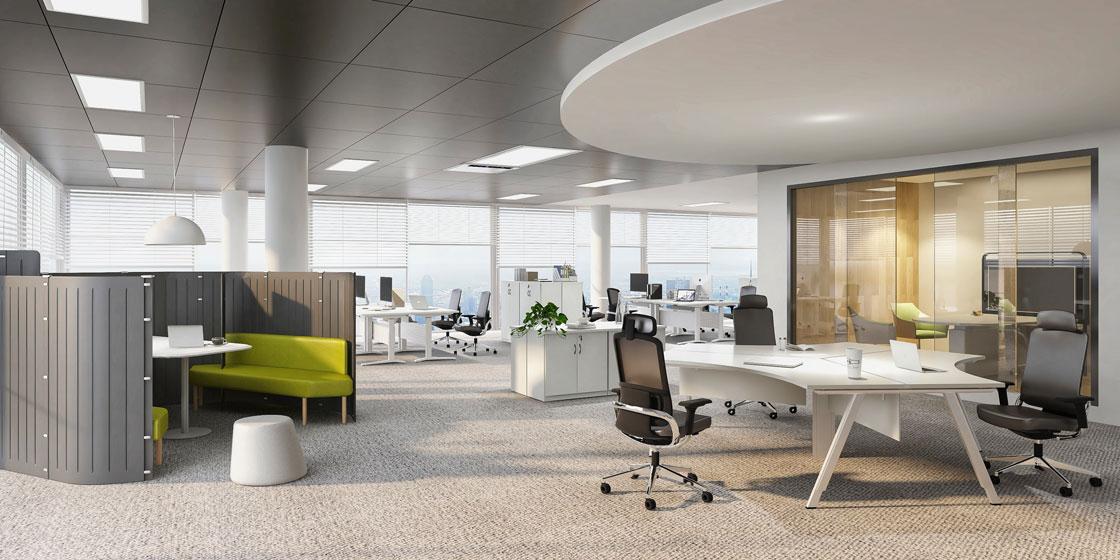 圣奥办公家具 开放式办公空间场景图