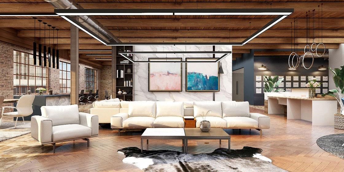 圣奥办公家具 星系列沙发办公空间设计方案