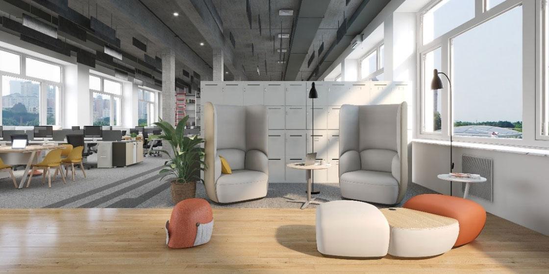 圣奥办公家具 岛系列沙发休闲空间设计方案