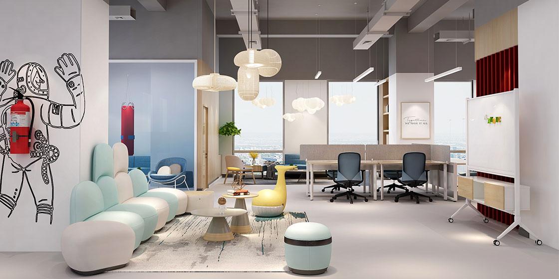 圣奥办公家具打造的小办公室空间开放办公案例