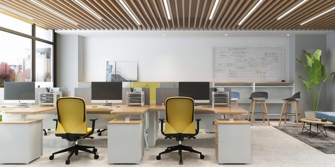 圣奥办公家具打造的小办公室空间案例