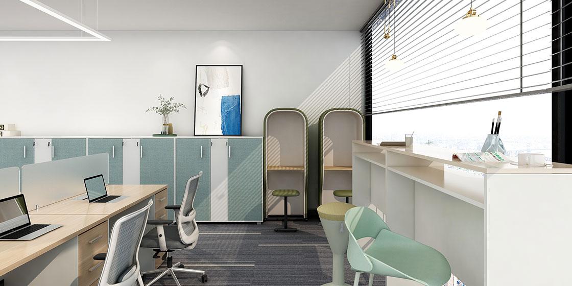 圣奥办公家具 小办公室灵活办公空间案例