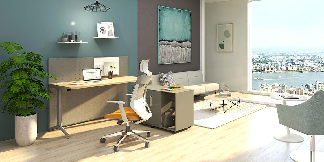 升降办公桌助力打造舒适的居家办公空间