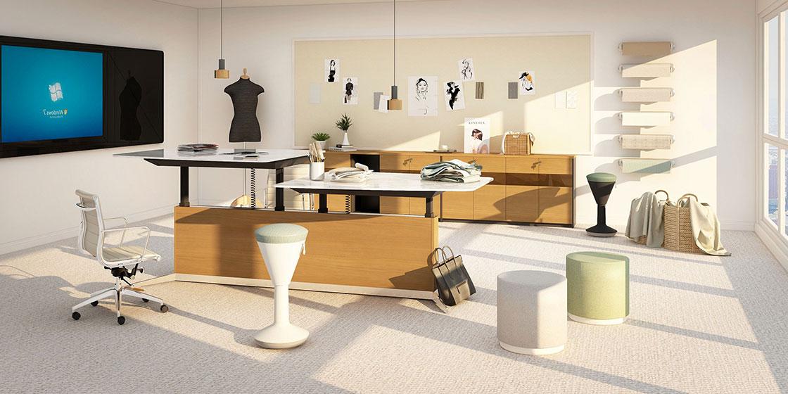 升降办公桌助力打造灵活的办公空间