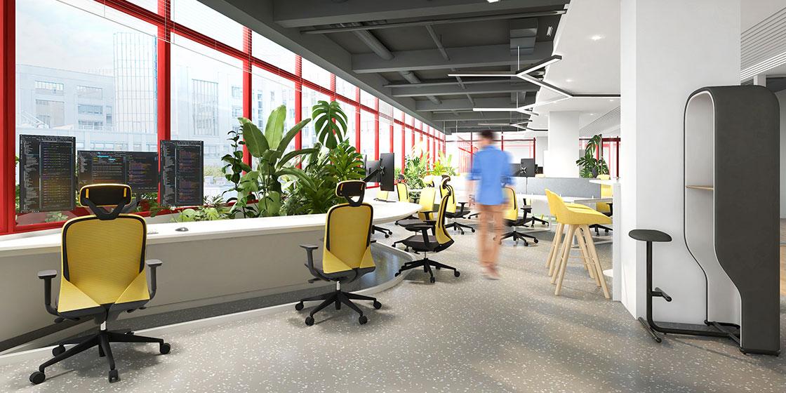 圣奥办公家具打造有品牌辨识度的办公空间